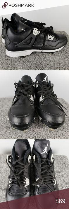 01aac8a171eb60 Jordan Retro IV 4 Sz 12 13 Metal Baseball Cleats New. Shoes do not come