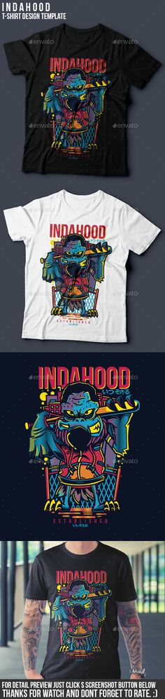 Indahood TShirt Design — Vector EPS #concertmerch #t-shirt • Download ➝ https://graphicriver.net/item/indahood-tshirt-design/18947913?ref=pxcr