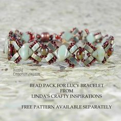 Bead Pack for LUCY Bracelet From Linda's Crafty Inspiration - Free Tutorial Available Separately