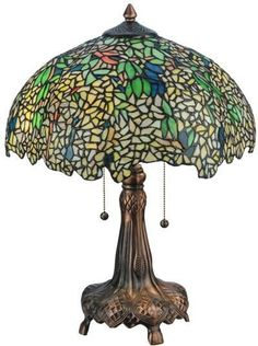 "Meyda Tiffany 139607 21.5""H Tiffany Laburnum Table Lamp"