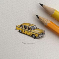 Impossibly tiny drawings are highly pleasing to the eye : theCHIVE Cool Pencil Drawings, Mini Drawings, Amazing Drawings, Art Drawings, Small Drawings, Mini Paintings, Miniature Paintings, Small Canvas, Ants