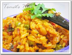 Tomato Rice.. Pressure Cooker Version. | Spice Ur Senses