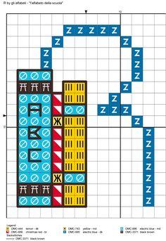 alfabeto della scuola R