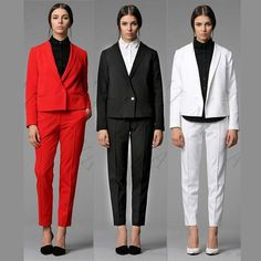 Elegant Office Work Uniform Womens Business Suits Ladies Formal Wear Tuxedos New – Girls Who Shop