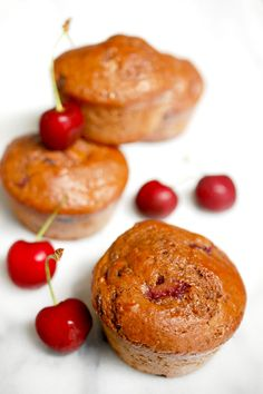 Eva Bakes - There's always room for dessert!: Double chocolate cherry muffins
