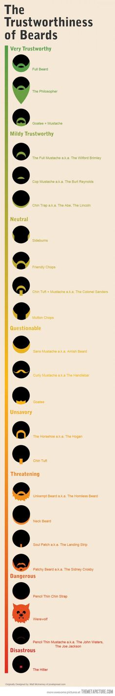 The Trustworthiness Of Beards…