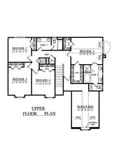 42-354 2nd floor - master bedroom, 3 other bedrooms, bonus area.