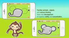 Discount: Wow! Doodle for iPhone - a set of activities for developing eye-hand coordination is now 1.99$ (was 2.99$)! #sale #kids