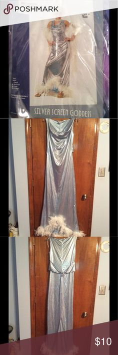 Silver Screen Goddess Costume Size S Cute dress, a little wear. Missing boa. California Costumes Other