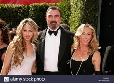 Download this stock image: Sep 16, 2007 - Los Angeles, CA, USA - EMMYS 2007: TOM SELLECK with wife JILLIE MACK and daugther HANNAH SELLECK arriving at the 59th Annual Primetime Emmy Awards held at the Shrine Auditorium in Los Angeles. (Credit Image: © Lisa O'Connor/ZUMA Press) - CAKE0P from Alamy's library of millions of high resolution stock photos, illustrations and vectors.