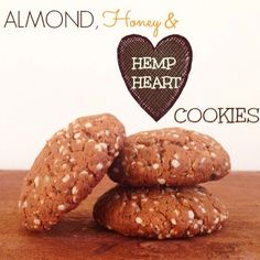 Almond, Honey and Hemp Heart Cookies