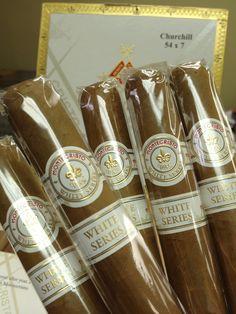 Montecristo White Label Churchill Cigars - 5 Pack.  Shipped to Goesan-gun, Chungbuk,  South Korea.