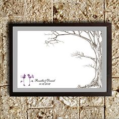 Personalized Fingerprint Painting - Tree (Includes 6 Ink Colors, Frame Not Included) – USD $ 39.99