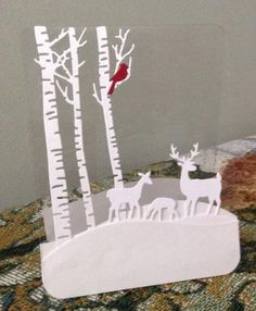 Clear Christmas night 2 by jmrypstra - Cards and Paper Crafts at Splitcoaststampers Clear Christmas night 2 by jmrypstra - Cards and Paper Crafts at Splitcoaststampers Simple Christmas Cards, Noel Christmas, Xmas Cards, Holiday Cards, Christmas Crafts, Christmas Night, 3d Cards, Box Noel, Paper Cutting