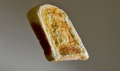 Manchester MET University scientists claim that after the buttered toast falls off the edge it only has time to perform a half-somersault before landing.