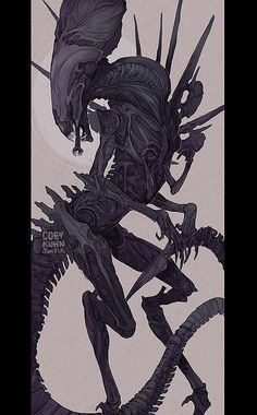 New xenomorph queen piece I recently finished for definitely not a dakimakura for myself UHHHHHHHHHHHbut if I DID you could also possibly get it HERE. Also as print HERE. Eventually maybe some neat. Alien Creatures, Prehistoric Creatures, Alien Vs Predator, Predator Art, Giger Art, Alien Drawings, Alien Queen, Aliens Movie, Demon Art