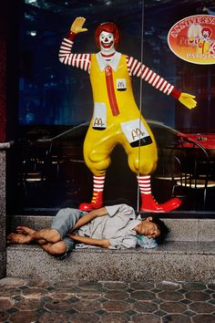 If you were walking into McDonald's to grab food...would you continue going in or come out and bring him lunch?