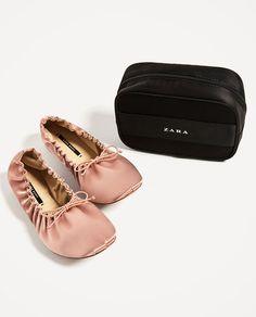 SATIJNEN BALLERINA SOFT-Platte schoenen-SCHOENEN-DAMES | ZARA België