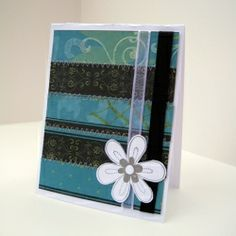 These sets of ladies birthday cards were made using a technique to give the appearance that the paper has been sewn together.