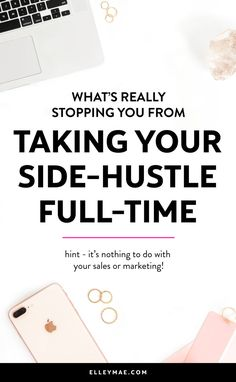 Are you sick & tired of waiting to turn your side-hustle into a full-time business, not knowing where you are going wrong? In this post, you're going to realise the #1 reason you've been self-sabotaging your chances at quitting your 9-5 for so long |