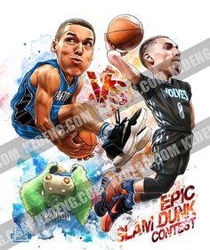 NBA slam dunk contest duel 2016