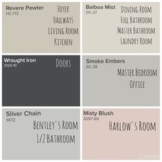 Benjamin Moore \'Revere Pewter\' and coordinating paint colors ...