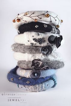 Felted & Beaded Bangles by TrendeFemme, via Flickr
