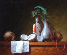 Roman Reisinger - Still life with coconuts