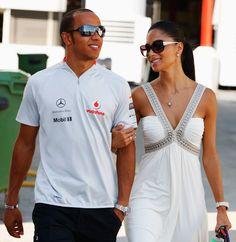 Lewis Hamilton and Nicole Scherzinger Photo - F1 Grand Prix of Europe
