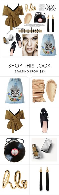 """""""Wear 'em."""" by cheetakat12 on Polyvore featuring Gucci, Acler, KG Kurt Geiger, H&M, Anja, Burberry, Chloé, Yves Saint Laurent and mules"""
