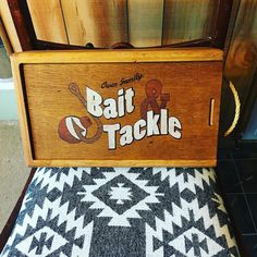 If you remember the old wine box I posted earlier this week this is what it turned into! More posts of its contents coming soon. Bait And Tackle, Handmade Toys, Contents, Tortoise, Repurposed, Fishing, Old Things, Woodworking, Posts