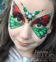 Adult Face Painting, Painting For Kids, Body Painting, Butterfly Face Paint, Christmas Face Painting, Face Painting Designs, Paint Designs, Balloon Animals, Face Art
