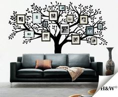 your family with a family tree wall decal! Family Tree Photo, Family Tree Wall, Photo Tree, Family Room, Family Photos, Family Trees, Wall Decor, Room Decor, My Dream Home