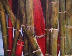 Red Bamboo by Des Knight