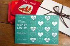 budget wedding ideas DIY invitations Etsy weddings teal hearts