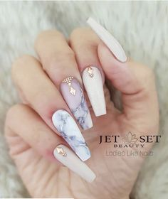 39 Birthday Nails Art Design that Make Your Queen Style fascinating coffin acrylic nails; french ombre nails with gold glitter; Marble Nail Designs, Acrylic Nail Designs, Nail Art Designs, Nails Design, Gold Designs, Coffin Nail Designs, Acrylic Art, Birthday Nail Designs, Birthday Nail Art