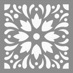 Cool Stencils, Mandala Stencils, Stencil Painting, Ceramic Painting, Fabric Painting, Wall Stencil Patterns, Stencil Templates, Stencil Designs, Tile Patterns