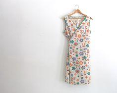 Vintage Apron Cotton Full Apron Lovely Pinafore Artist Smock ~ Niftic Vintage / Etsy