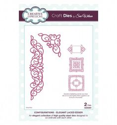 Craft Dies by Sue Wilson - Configurations Collection - Elegant Laced Edger CED6401 from Joanna Sheen