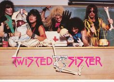 Twisted Sister Band   1985 Rare Vintage  by VintagePosterPlace