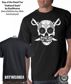 6179d005f Oakland Raiders inspired Day of the Dead Sugar Skull unisex fitted t-shirt  Oakland Raiders