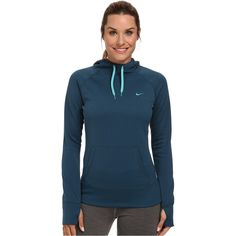 Nike All Time Hoody FA14 Women's Sweatshirt, Blue (€31) ❤ liked on Polyvore featuring tops, hoodies, sweatshirts, blue, hooded sweat shirt, nike pullover, long sweatshirt, long hoodie and sweatshirts hoodies