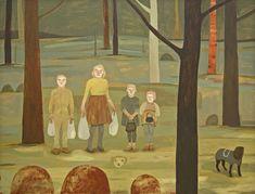 "Camilla Engman - ""Family matters"" - acrylic on board, 81 x 61 cm"