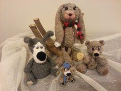 My crochet animals.