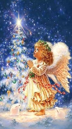 angel wallpaper by - - Free on ZEDGE™ Christmas Scenes, Cozy Christmas, Merry Christmas And Happy New Year, Christmas Angels, Beautiful Christmas, Christmas Cards, Christmas Decorations, Merry Christmas Wallpaper, Angel Wallpaper