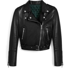 Mulberry Eliza Biker Jacket ($2,125) ❤ liked on Polyvore featuring outerwear, jackets, black, rider jacket, motorcycle biker jacket, motorcycle jackets, biker style jacket and moto jacket