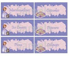 Sofia the First Food Labels FREE PDF Download