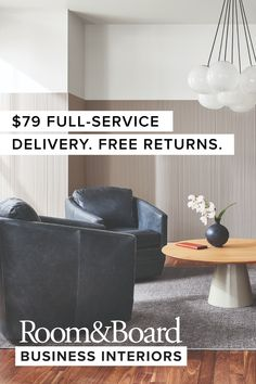 Receive white-glove delivery of unlimited items for just $79 anywhere in the contiguous United States. For a 3% fee we provide extras like sidemarking, delivery to multiple locations and prioritized delivery during business hours. House Layout Plans, House Layouts, Retail Space, Modern Spaces, Commercial Interiors, Backyard Landscaping, Glove, Ottoman, Table Lamp