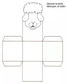 Boîte mouton Eid Crafts, Ramadan Crafts, Ramadan Decorations, Eid Mubark, Eid Al Adha, Diy Eid Cards, Fest Des Fastenbrechens, Cajas Silhouette Cameo, Eid Boxes