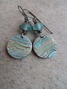 Peaceful Waters ... Polymer Clay Antique Desert by juliethelen